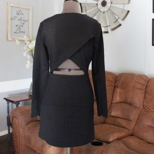 🎄NWT <Avec Les Filles> Black Long Sleeve Dress